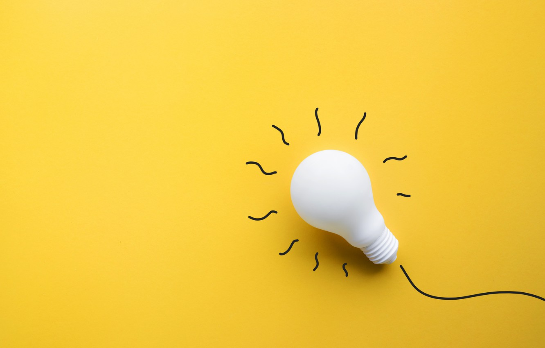 Photo wallpaper drawing, white light, light bulb, cardboard