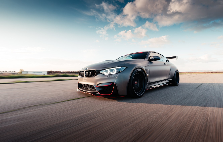 Photo wallpaper BMW, road, speed, BMW M4