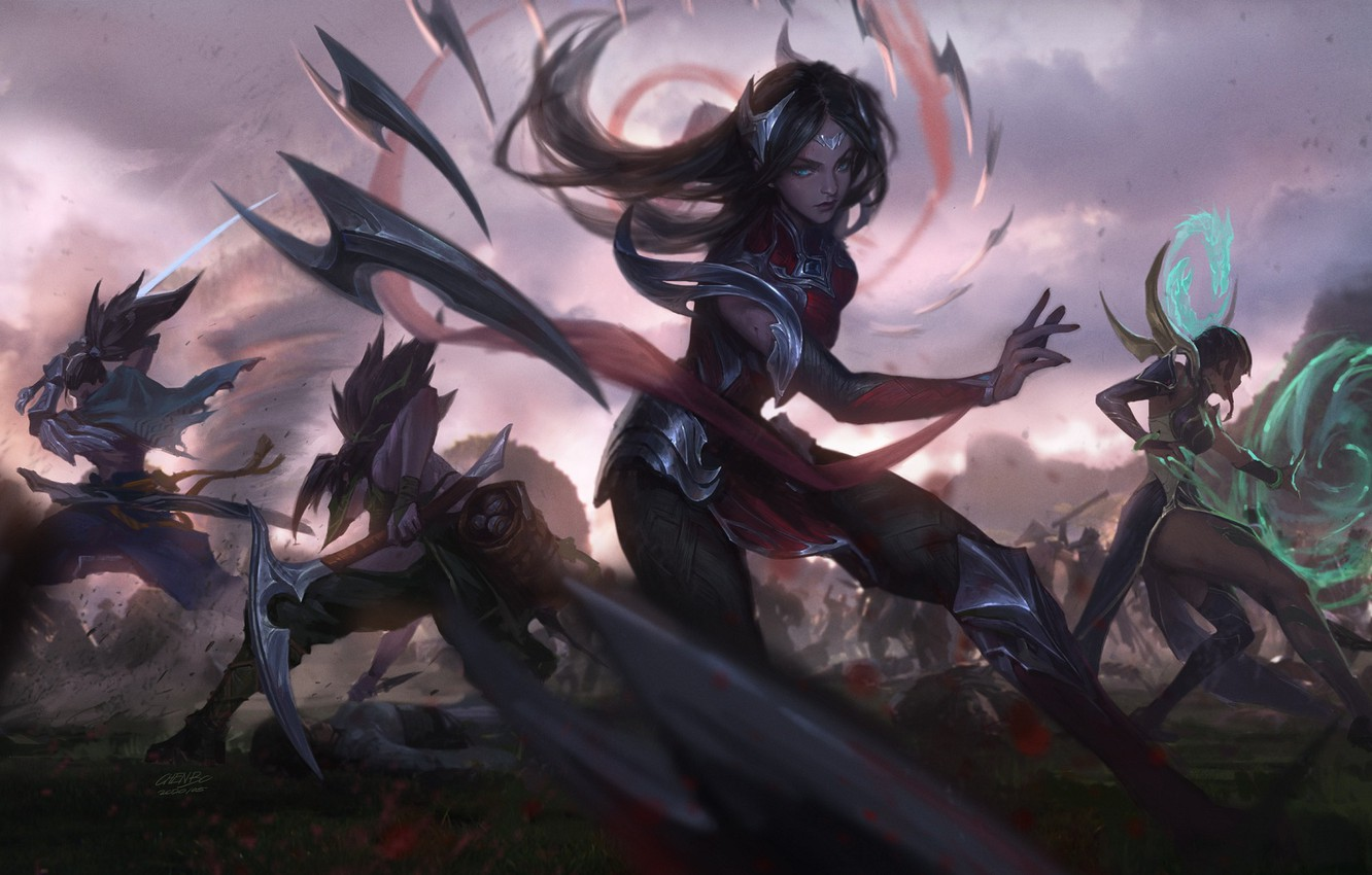 Wallpaper Akali Irelia Karma League Of Legends Yasuo Images For Desktop Section Igry Download