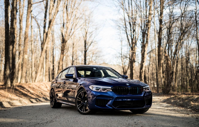 Photo wallpaper BMW, Blue, Sight, F90, 3/4