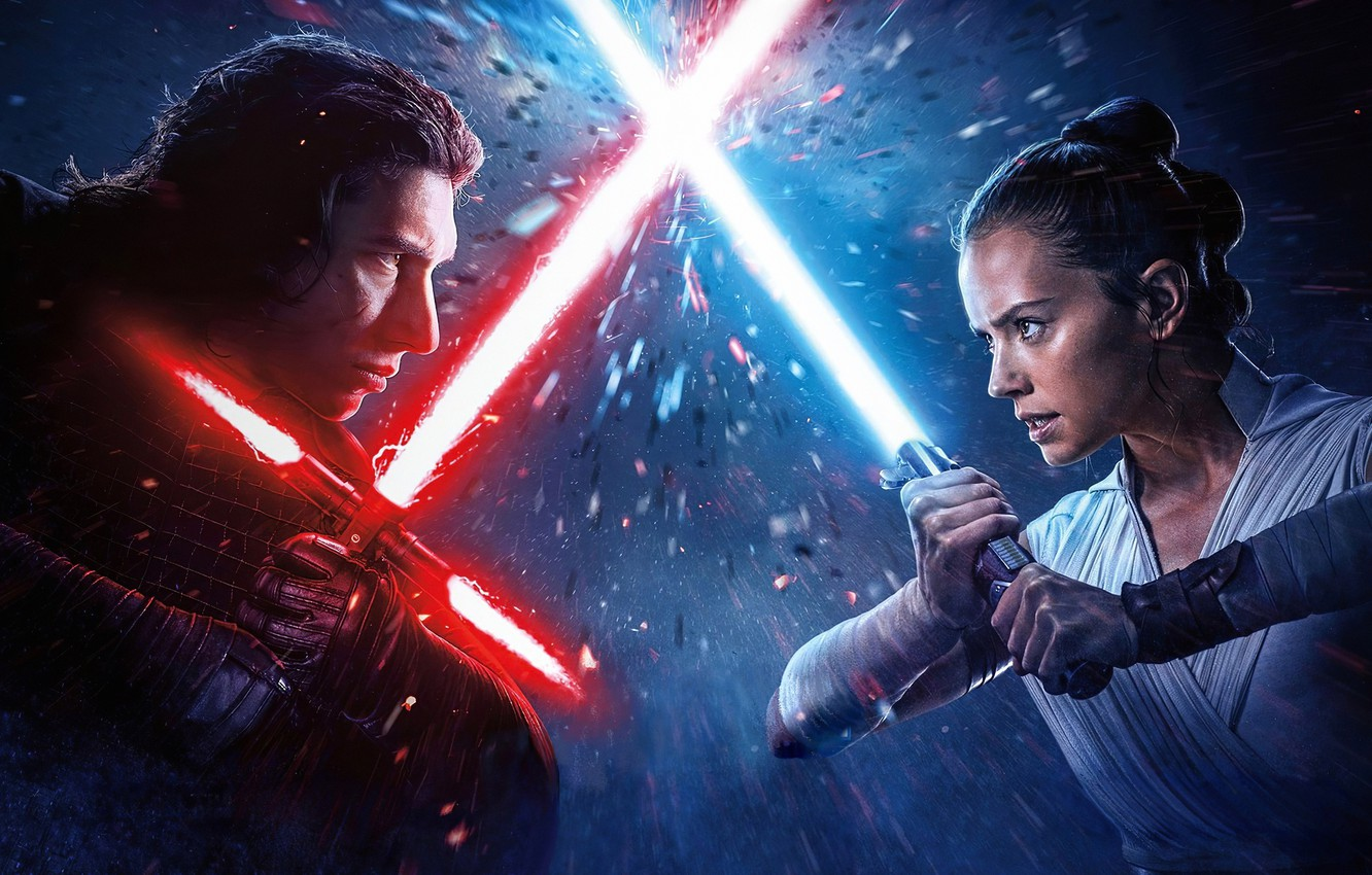 Wallpaper Girl The Opposition Guy Lightsabers Star Wars Episode Ix The Rise Of Skywalker Images For Desktop Section Filmy Download