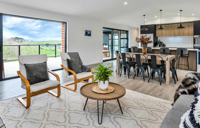 Photo wallpaper interior, kitchen, New Zealand, Auckland, living room, dining room