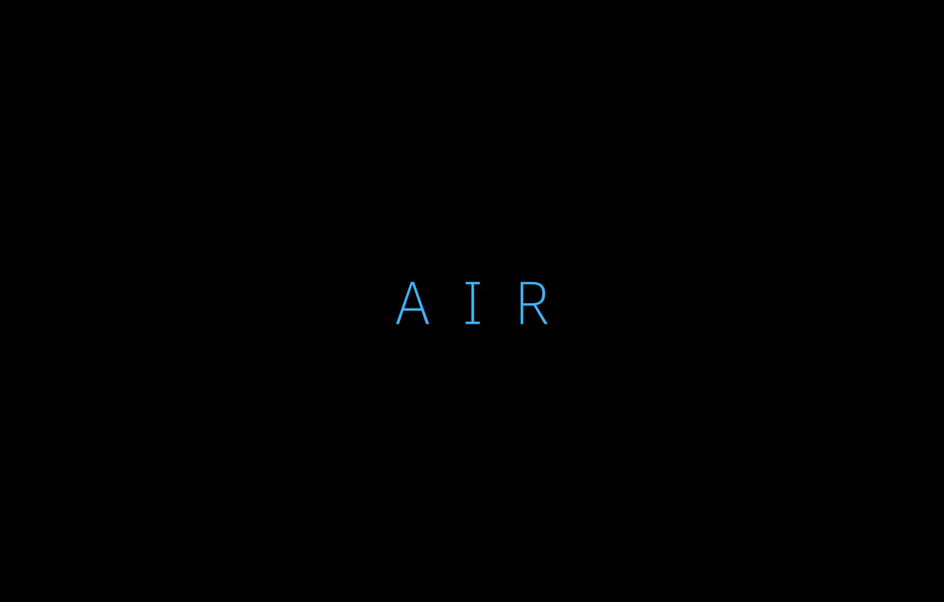 Photo wallpaper background, black, minimalism, the air, the word