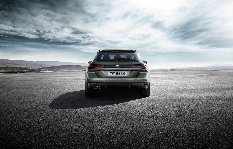 Photo wallpaper Peugeot, rear view, 2018, universal, 508, SW GT