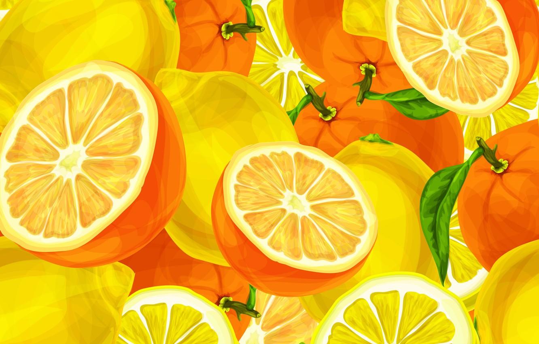 Photo wallpaper oranges, fruit, citrus