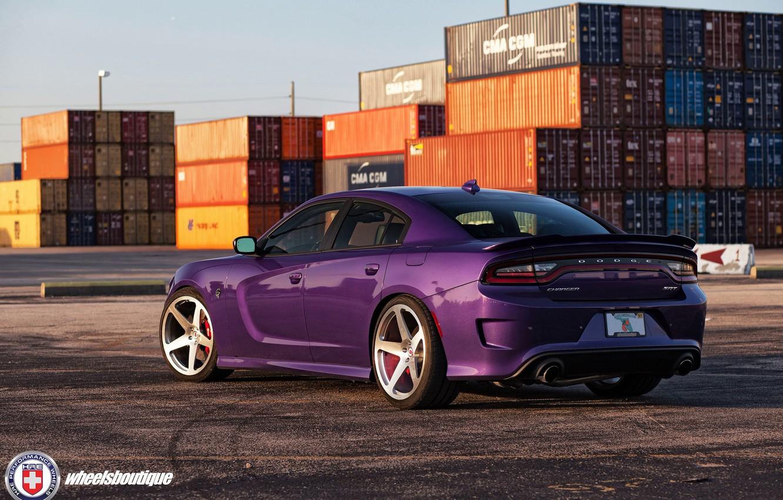 Photo wallpaper Purple, Dodge Charger, Hellcat, SRT