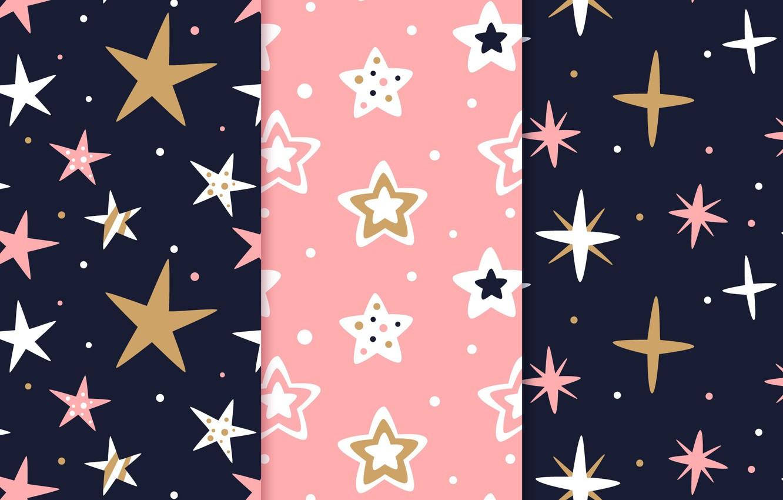 Wallpaper Stars Background Pink Black Pattern Stars
