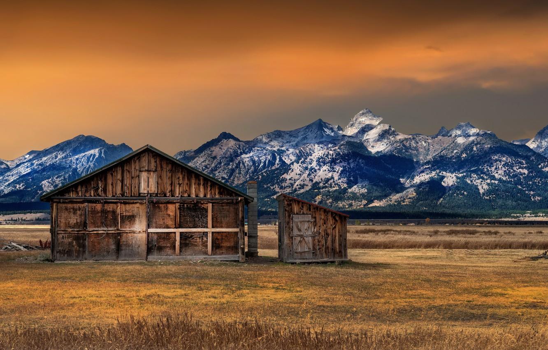 Photo wallpaper Fall, Grand Teton National Park, Mormon, Row