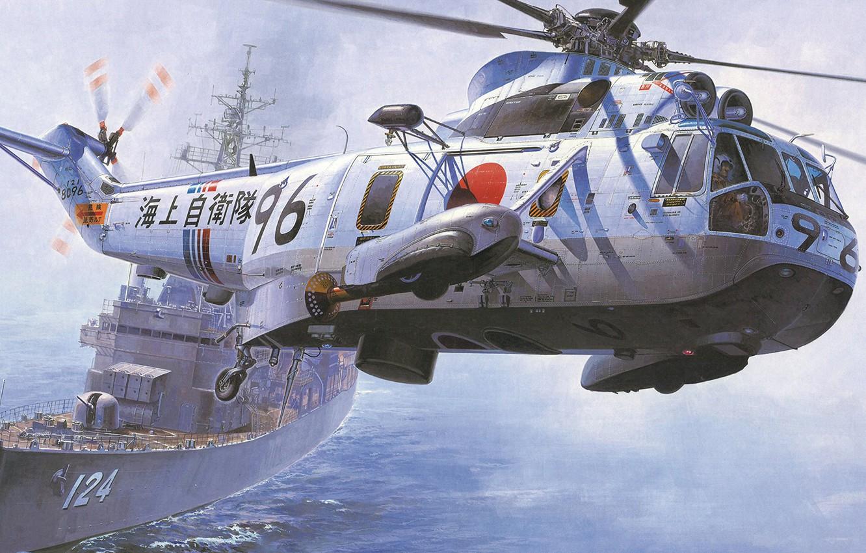Wallpaper Sea King Anti Submarine Warfare Helicopter Jmsdf Asw