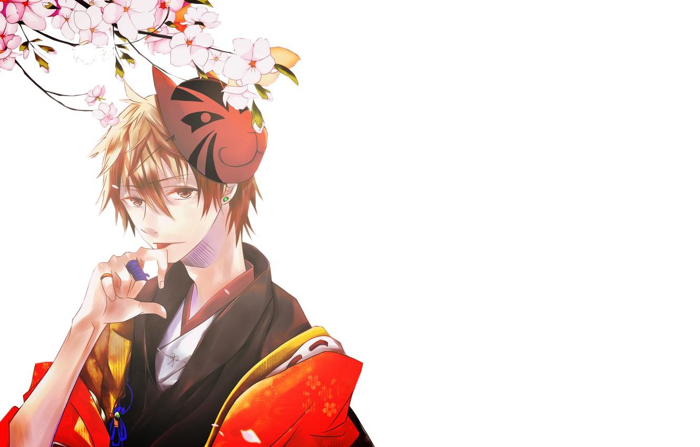 Photo wallpaper Sakura, guy, kimono, by imaginarywhitecat, miyaji ryunosuke