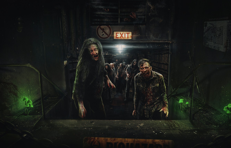 Photo wallpaper zombies, zombie, zombies, biohazard, Resident Evil, resident evil, the walking dead, the walking dead, days …