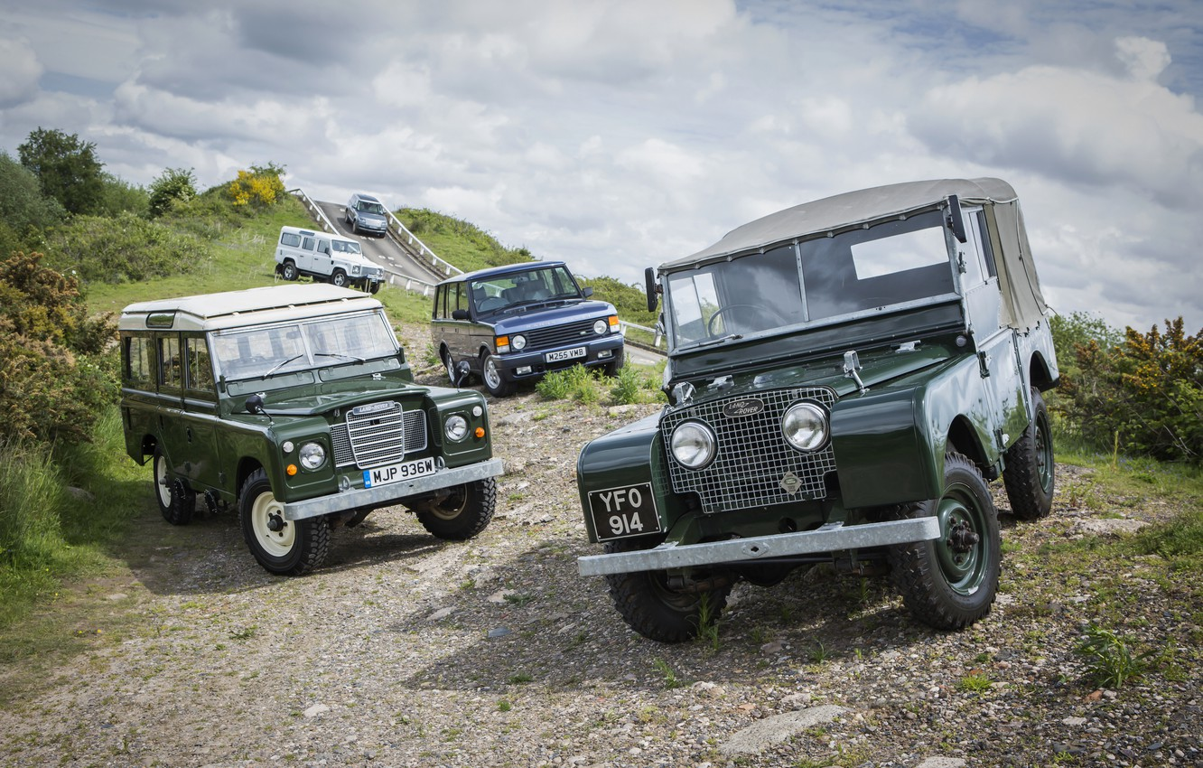 Photo wallpaper Land Rover, Range Rover, Defender, Series I, Series III, SUVs (mostly)