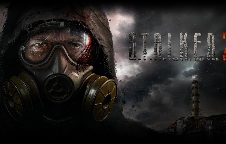 Photo wallpaper Gas mask, S. T. A. L. K. E. R. 2, S. T. A. L. K. …