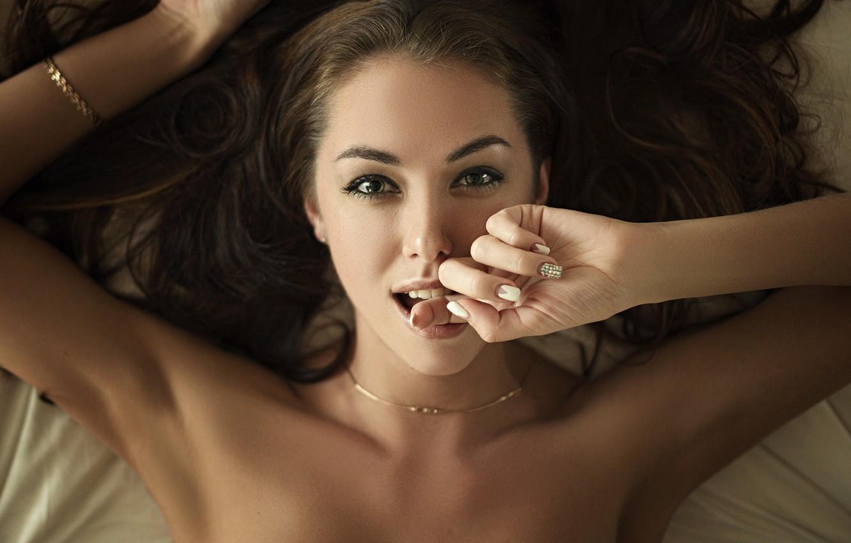Photo wallpaper smile, finger, Sergey Fat, Sergey Zhirnov