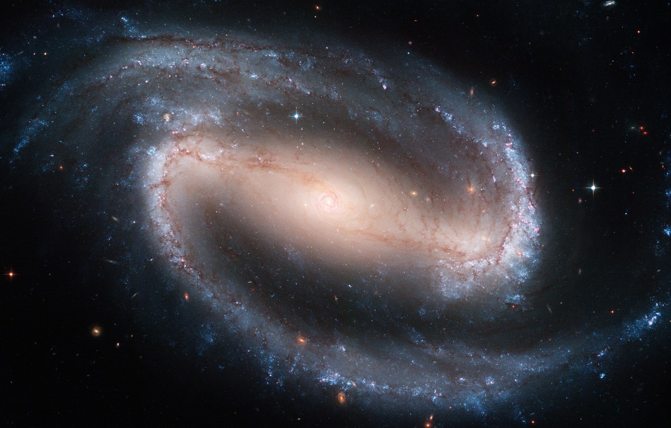 Photo wallpaper Hubble, Spiral galaxy with a jumper, NGC 1300