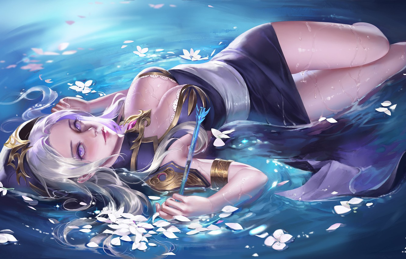 Photo wallpaper water, anime, fantasy, art, arrow, The sixth - term role boutique class-students work, Star Academy