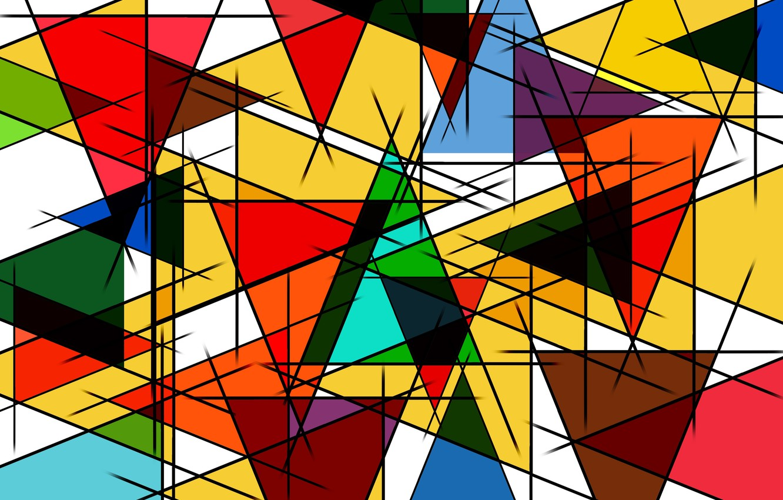 Photo wallpaper line, triangles, figure