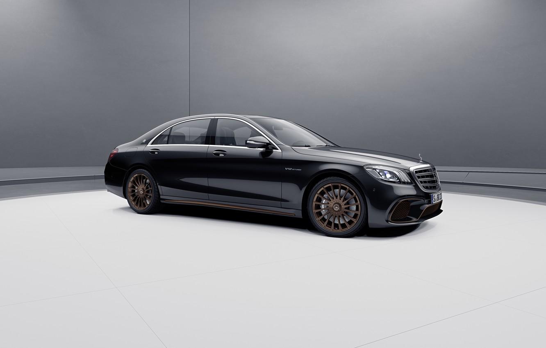 Photo wallpaper machine, lights, Mercedes-Benz, V12, S65, Mercedes-AMG, Executive class, Final edition