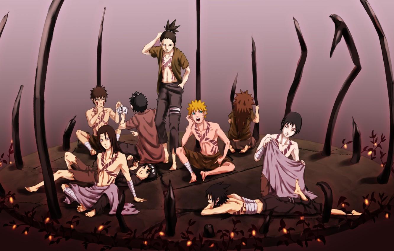 Photo wallpaper art, guys, Naruto, naruto, characters
