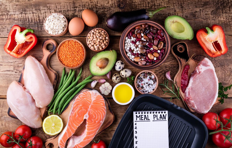 Wallpaper Eggs Fish Vegetables Cereals Healthy Food