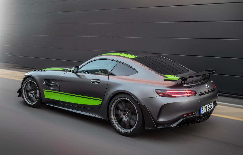 Photo wallpaper Mercedes-Benz, speed, rear view, AMG, PRO, GT R, 2019