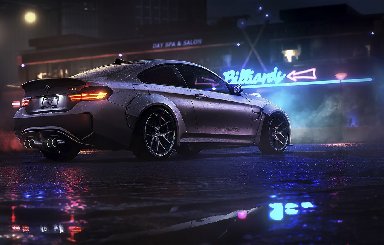 Photo wallpaper night, BMW, game, NFS, night, art, Electronic Arts, Need For Speed, BMW M4, Need For …