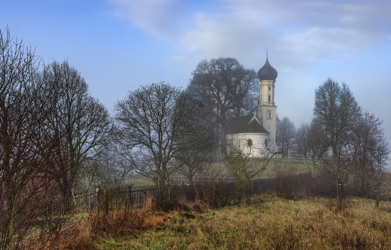 Photo wallpaper Germany, Bavaria, Chapel, Sankt Sebastian