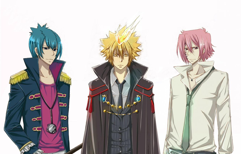 Photo wallpaper background, flame, anime, art, guys, Katekyo Hitman Reborn, Teacher mafia Reborn