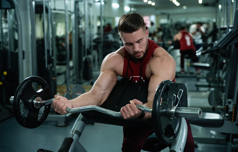 Photo wallpaper power, sport, hall, coach, muscle, rod, bodybuilding, rocking, biceps, gym
