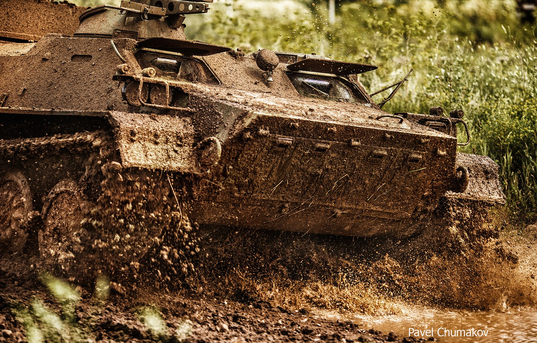 Photo wallpaper dirt, BTR, APC, Pavel Chumakov