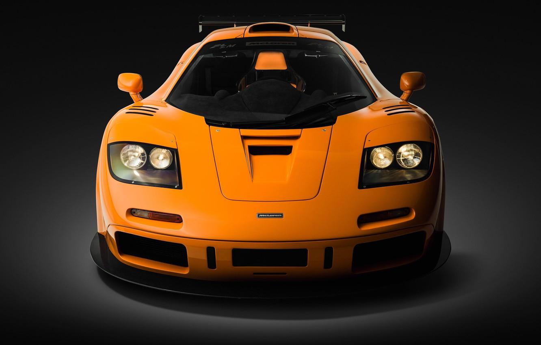 Photo wallpaper Orange, Supercar, Front view, 1995, McLaren F1 LM