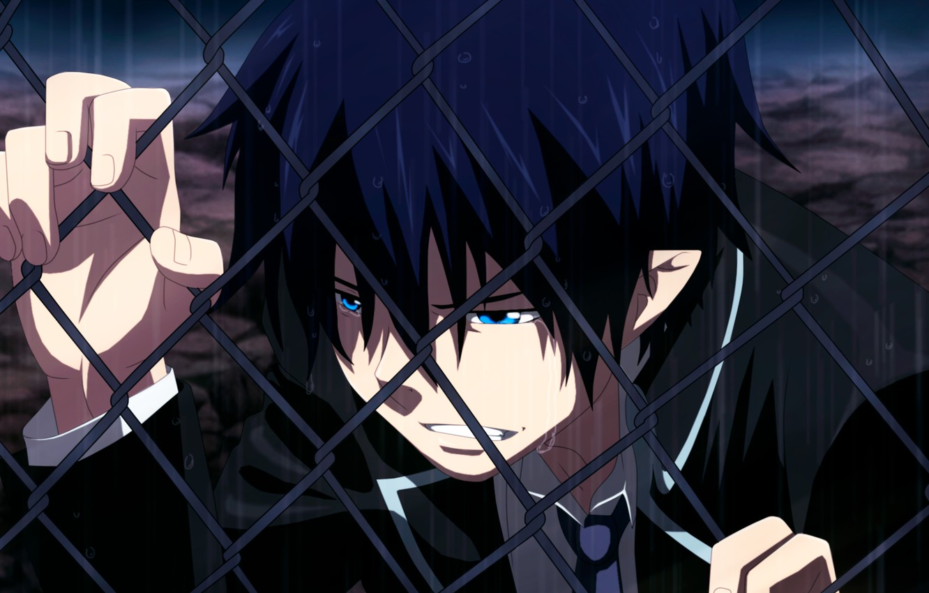 Wallpaper Ao No Exorcist Rain Blue Exorcist Tears Rin Okumura