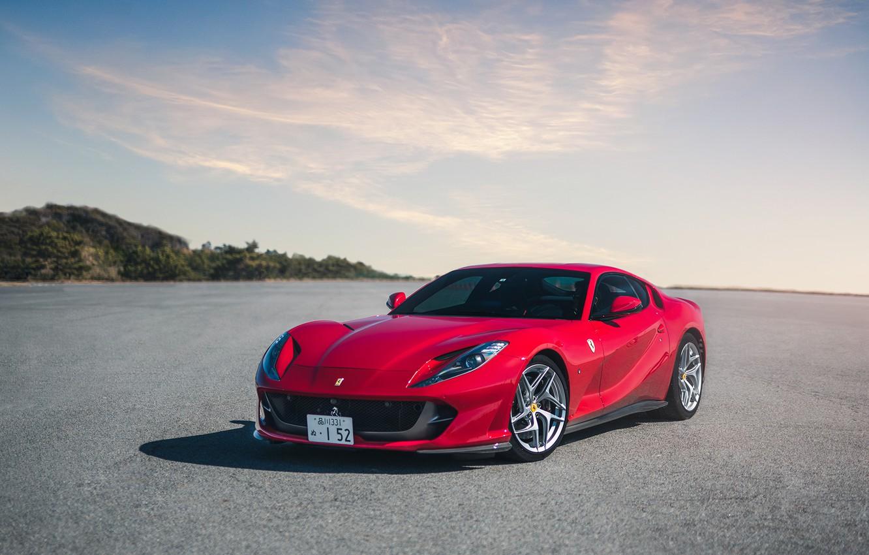 Photo wallpaper Ferrari, red, Superfast, 812