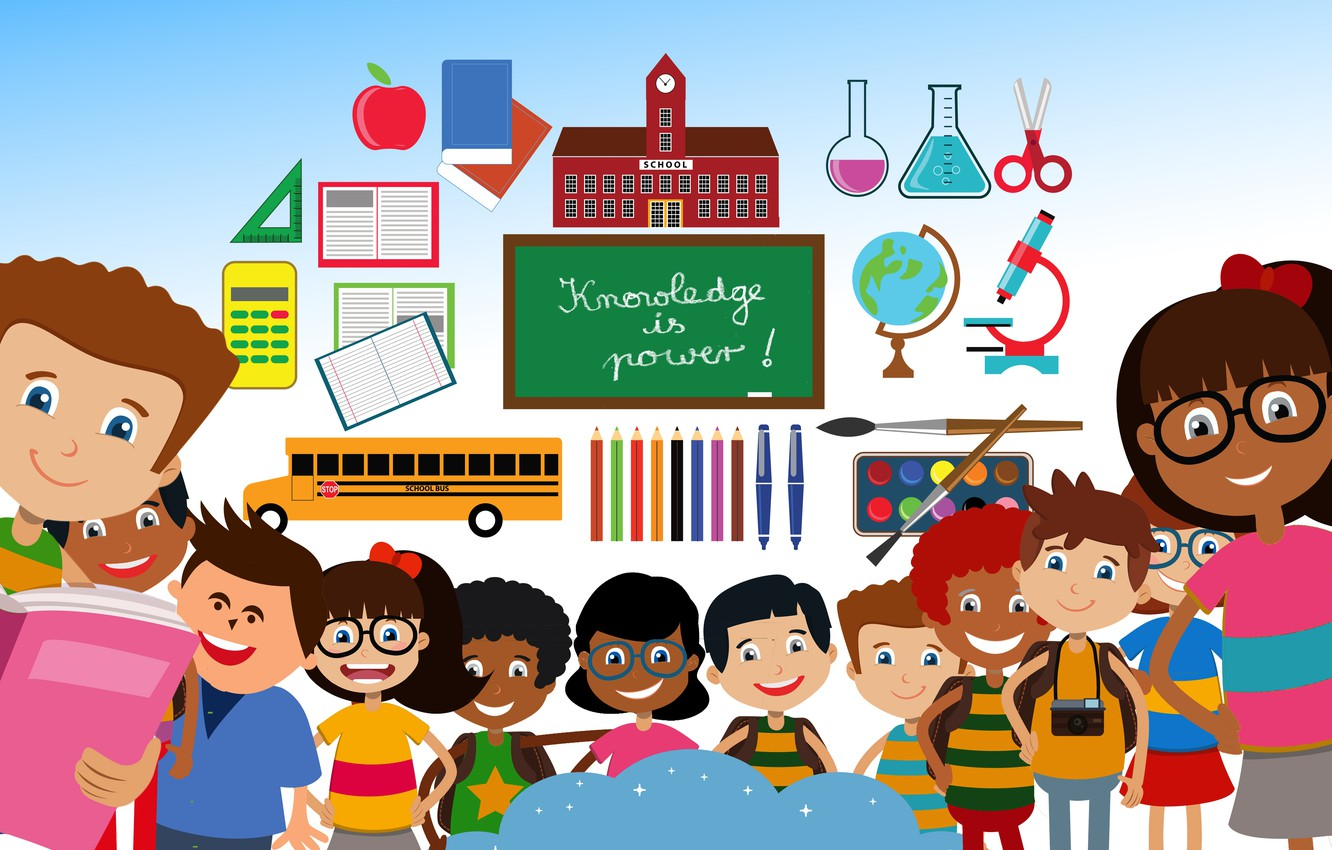 Wallpaper Children School Knowledge Study Images For