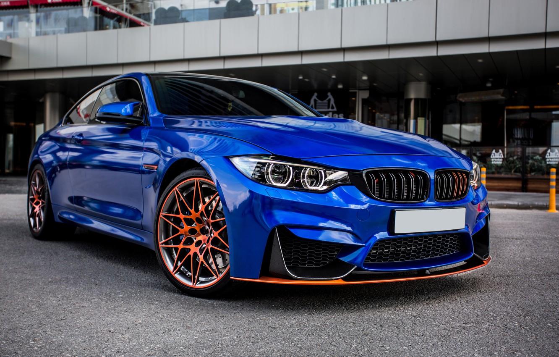 Photo wallpaper blue, sports car, BMW M4