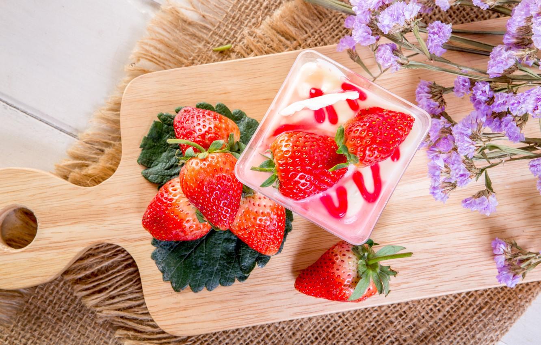 Photo wallpaper berries, strawberry, red, fresh, dessert, wood, ripe, sweet, strawberry, berries