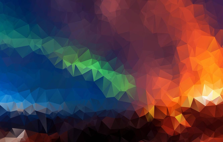 Photo wallpaper mosaic, abstraction, high quality, high resolution, Triangles, Geometrical figure, raznocvetnye, Геометрический фон, Геометрические