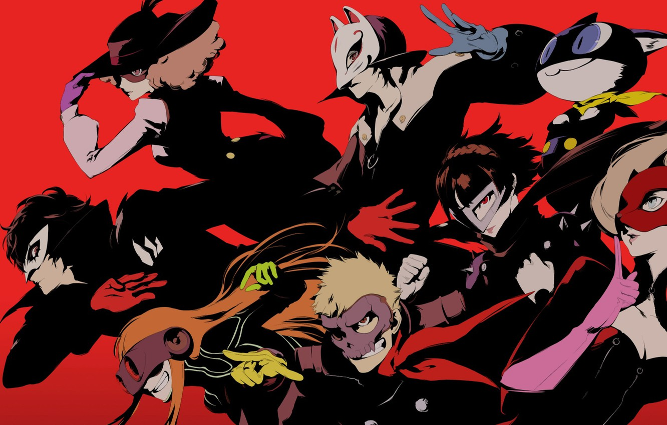 Photo wallpaper color, characters, Person 5, Persona 5