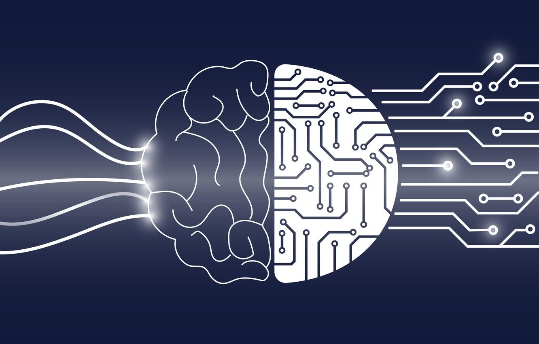 Photo wallpaper brain, ideas, mathematics, creativity, exact