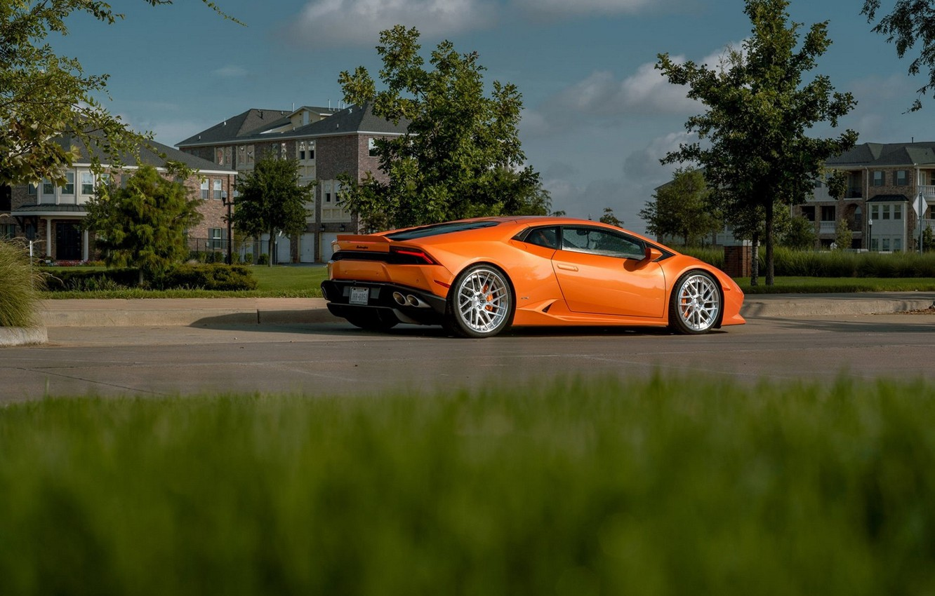Photo wallpaper Lamborghini, LAMBORGHINI, Huracan, Lamborghini Huracan, HURACAN, BOREALIS, ORANGE