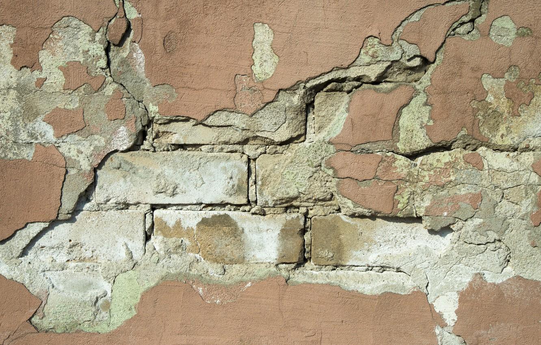 Photo wallpaper wall, bricks, hollow