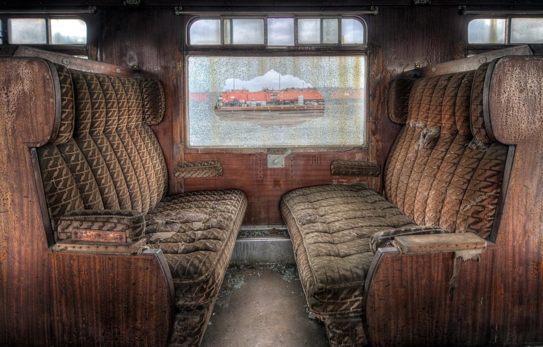 Photo wallpaper train, the car, chairs