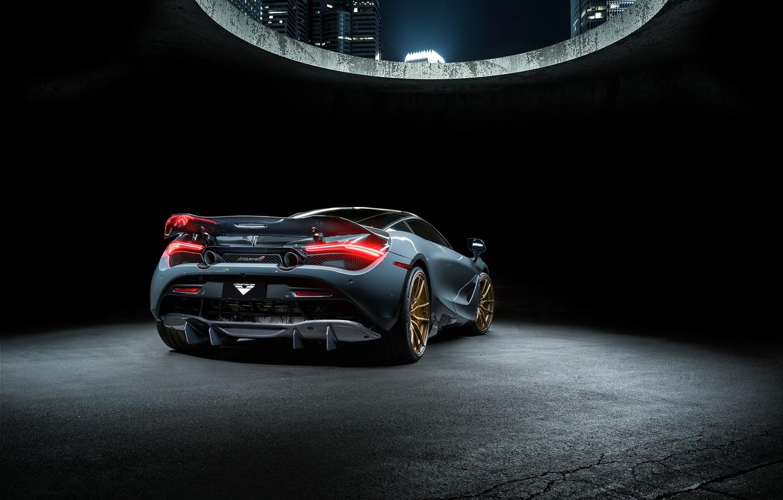 Photo wallpaper McLaren, supercar, rear view, Vorsteiner, 2018, 720S, Silverstone Aero Program