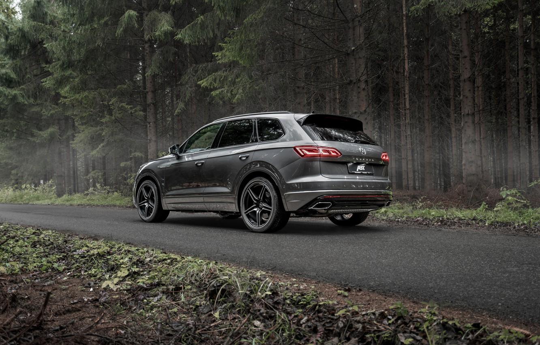 Photo wallpaper TDI, Volkswagen, rear view, Touareg, crossover, ABBOT, R-Line, V8, 2019