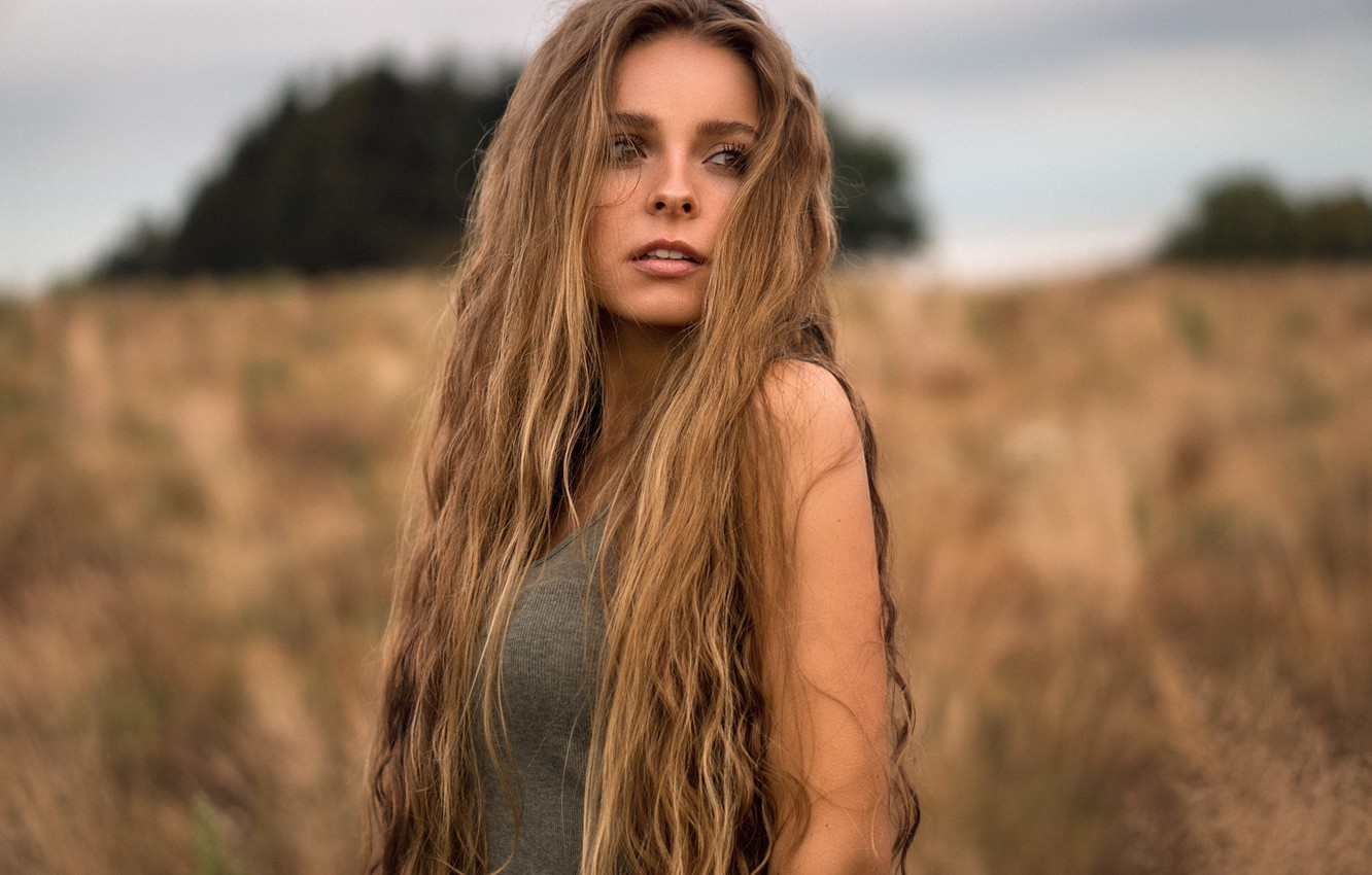 Sexy girls with long hair