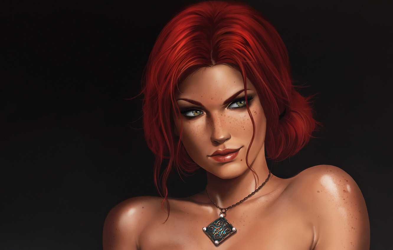 Wallpaper Girl Pendant Red Girl The Enchantress Triss