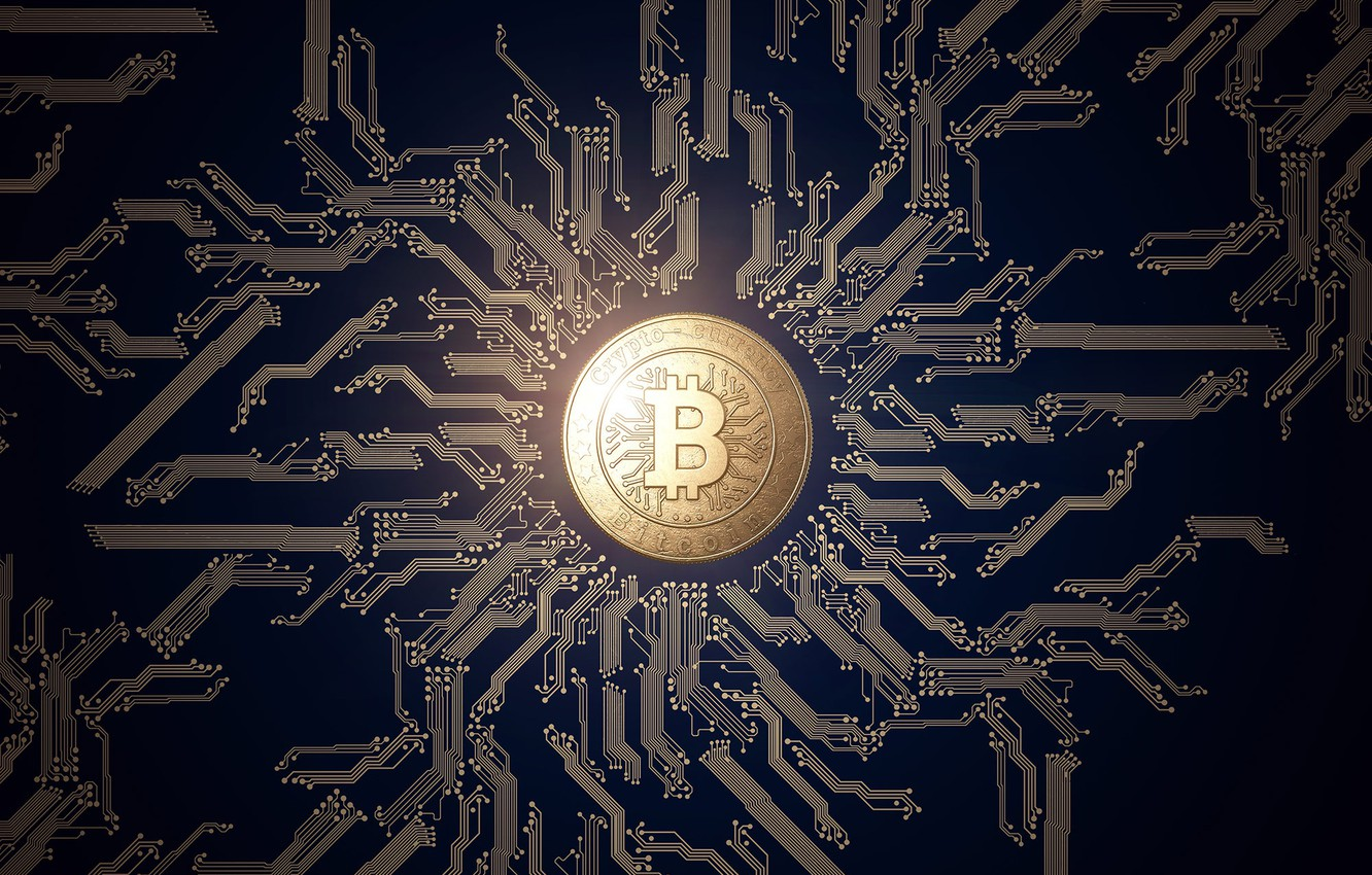 Photo wallpaper logo, currency, coin, money, currency, Bitcoin