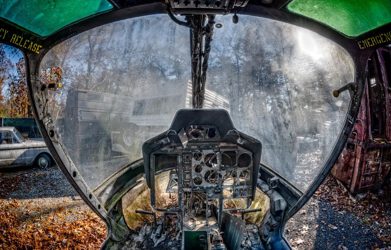 Photo wallpaper cabin, the plane, scrap