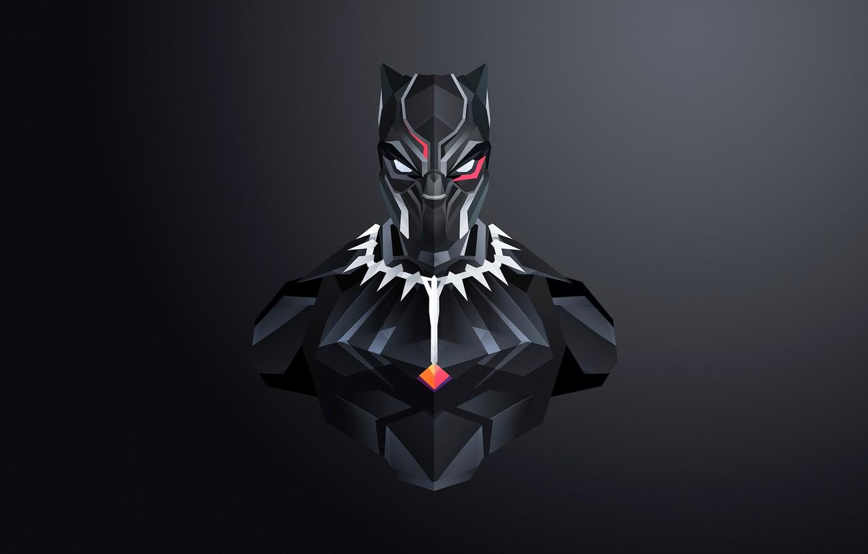 Photo wallpaper mask, art, costume, black background, comic, MARVEL, Black Panther, Black Panther
