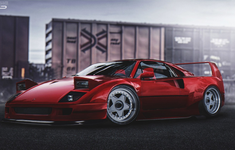 Ferrari Red Car Tuning Lights Hd Wallpaper Mobile Wallpapers